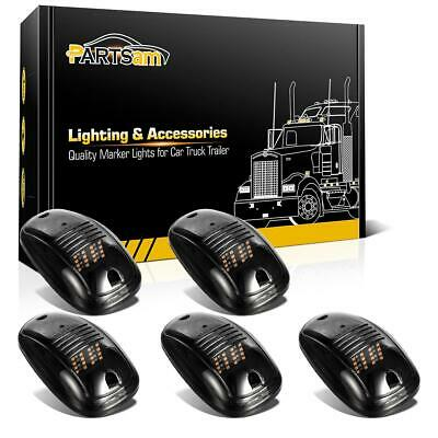 $30.26 • Buy 5x Smoke 264146BK Roof Cab Clearance Amber 16LED Lights For Dodge Ram 3500 4500