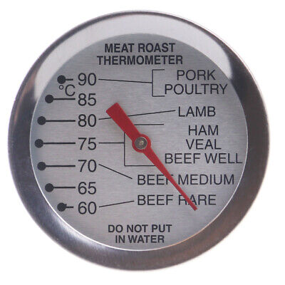 Meat Thermometer Dial Leave In Oven Roasting Beef Lamb Turkey Steak - In-063 • 6.50£