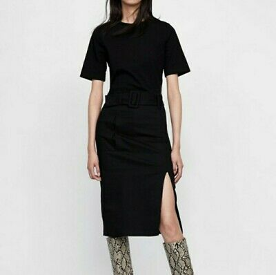 $33 • Buy Zara Black Belted Dress Modi Size Large