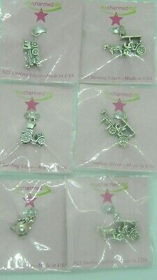 $ CDN50.75 • Buy Lot Of 6 Sterling Mackinaw Island Charms. NEW, Sealed...super Cute.