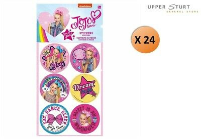 AU12.95 • Buy Jojo Siwa Stickers Favours 24 Pack Favours Birthday Party Supplies FREE SHIPPING