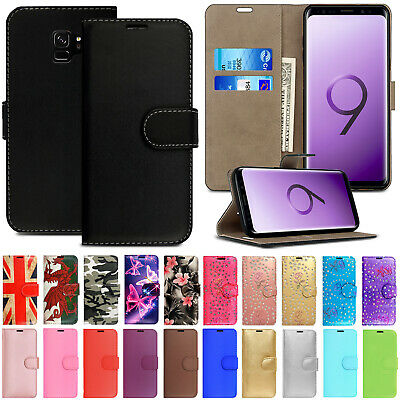 Case For Samsung Galaxy S9 S8 Plus S7 S6 Edge Leather Magnetic Wallet Flip Cover • 2.99£