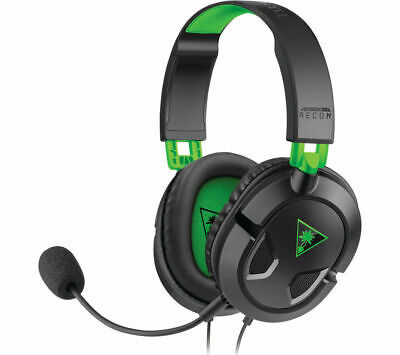£14.99 • Buy TURTLE BEACH Ear Force Recon 50X Gaming Headset - Black & Green - Currys