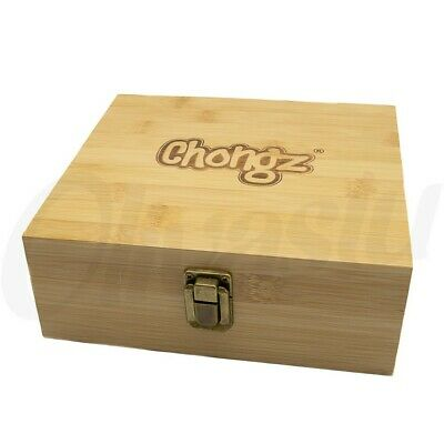 Chongz Large Bamboo Rolling Tray Box Station Stash Storage 19 By 17 By 7cm • 15.45£