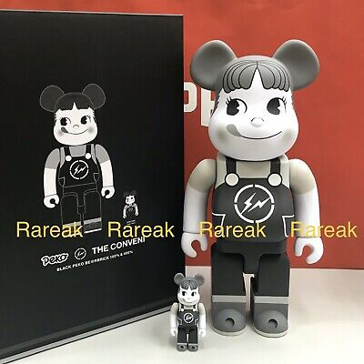 $706.99 • Buy Medicom Be@rbrick 2020 Peko Chan X Fragment Conveni 400% + 100% Black Bearbrick
