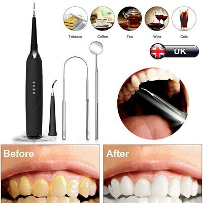 £19.99 • Buy Electric Sonic Plaque Dental Scaler Tartar Calculus Remover Tooth Stains Tool UK