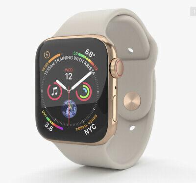 $ CDN523.89 • Buy APPLE WATCH S4 44mm GOLD STAINLESS Steel Case W/ Stone Sport Band GPS+Cellular