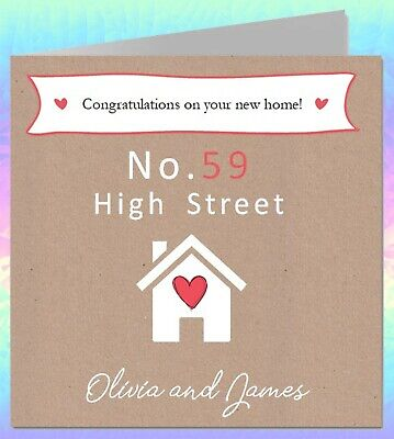 Personalised Moving Home Card Handmade House Warming Congratulations MH7 • 3.50£