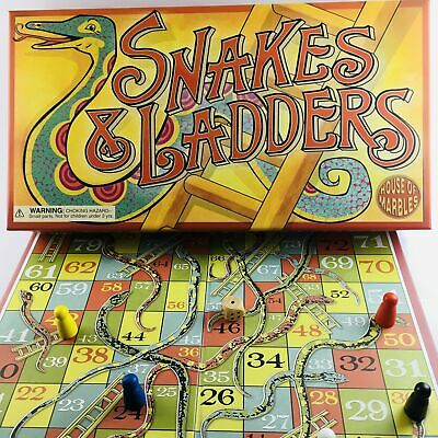 AU35 • Buy Classic Snakes And Ladders, A Brand New Game With Vintage Style!
