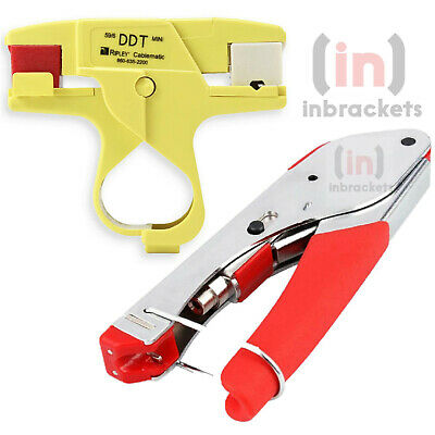 £18.99 • Buy Coax Cable Stripper For WF65 & CT100 Sky  + Compression Tool - Professional Kit