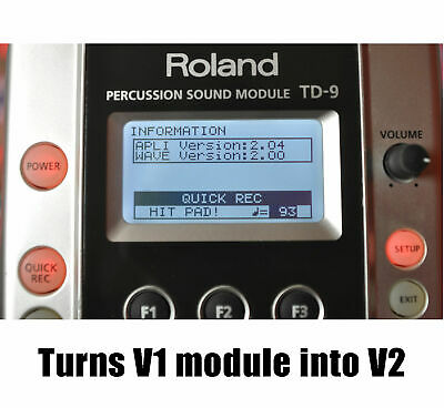 AU4.51 • Buy Roland TD-9 V2.0 Update Firmware Upgrade File & Instructions 99 Kits!! GENUINE