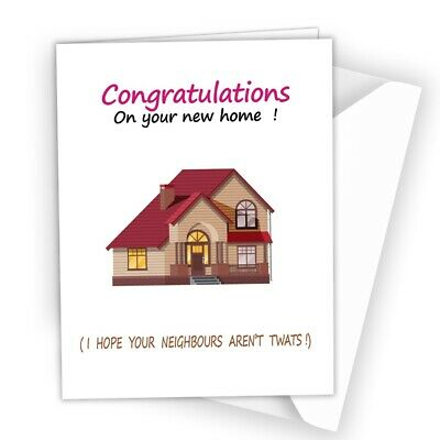 Congratulation New Home Card Adult Friend Rude Joke Comedy Funny Humour A42 • 2.49£