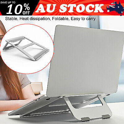 AU20.99 • Buy Laptop Desk Stand Aluminium Foldable Holder Table Tray Ventilated Cooling Rack