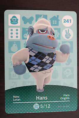 AU10 • Buy Official Animal Crossing Amiibo Cards - Hans #241
