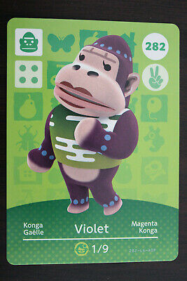 AU8 • Buy Official Animal Crossing Amiibo Cards - Violet #282