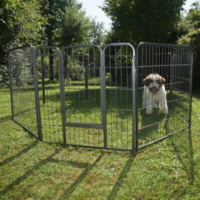 Metal Run Small Pet Puppy Play Pen 8 Sided Easy Assemble Indoor Outdoor Use Best • 94.99£