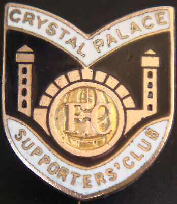 CRYSTAL PALACE FC Rare Vintage SUPPORTERS CLUB Badge Maker H.W MILLER Brooch Pin • 30£