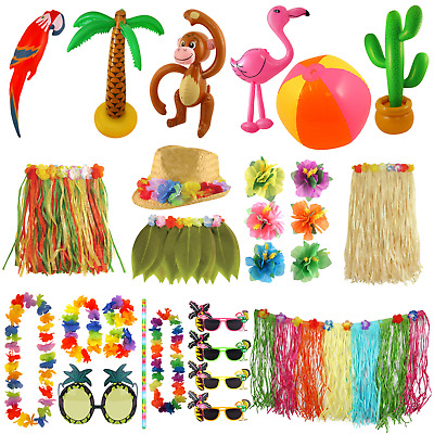 Hawaiian Luau Tropical Party Decorations Bbq Summer Beach Flower Decor Accessory • 1.70£