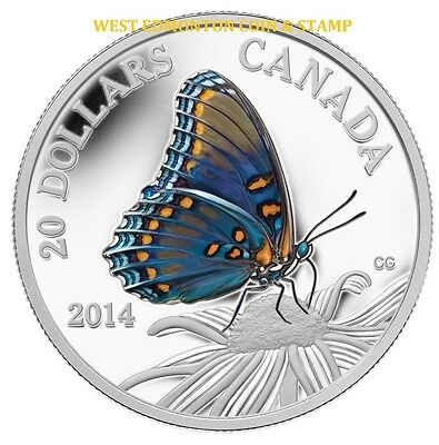 $62.75 • Buy 2014 $20 Fine Silver Coin Butterflies Of Canada - Red-spotted Purple