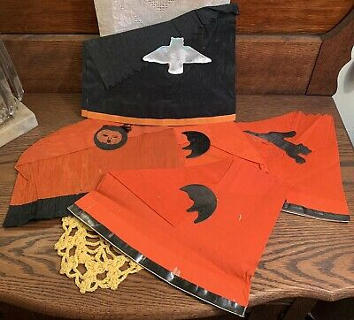 $ CDN9.46 • Buy 5 Vintage Halloween Crepe Paper Party Hats With Diecut Decorations, 1920s-30s