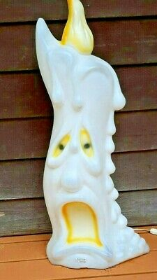$59.95 • Buy Vintage Empire Lighted Blow Mold 2-Sided 36  Scared Candle Halloween Yard Decor