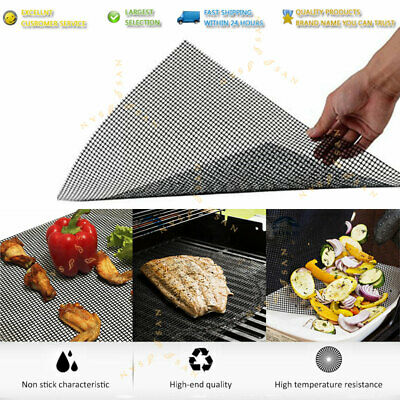 AU12.99 • Buy BBQ Grill Mesh Non-Stick Mat Reusable Teflon Sheet Resistant Barbecue Meat