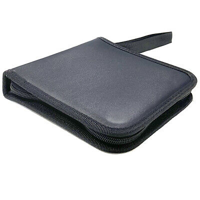 AU12 • Buy Portable CD DVD Storing Wallet Leather Case Pouch W/ 24 Sleeve/Fabric Lining BK