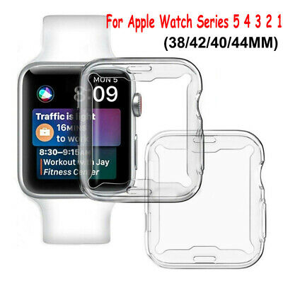 $ CDN1.99 • Buy For Apple Watch Series 5 4 3 2 Full Cover TPU Slim Case Screen Protector IWatch