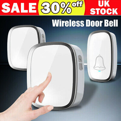 Wireless Door Bell Doorbell Waterproof Wall Plug-in Chime Remote 300M 36 Tunes  • 9.90£
