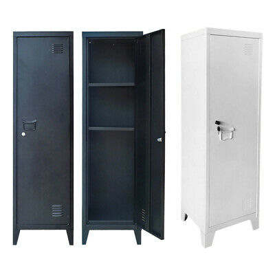 Stand Filing Cabinet Office Storage Lockable Metal Cabinet 1 Door 3 Tier Cabinet • 59.99£