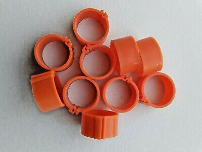 10 X 16mm Poultry Clip Leg Rings For Chicken, Pigeon, Pheasant, Chicks Etc • 2.29£