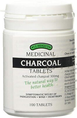 £8.83 • Buy J.L Bragg's Charcoal Relieves Indigestion Wind Heartburn Natural Gluten Lac Free