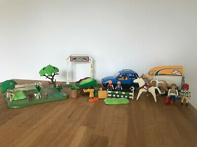 Playmobil Massive Horse Bundle With Car, 2 Trailers, People And Animals • 7.50£