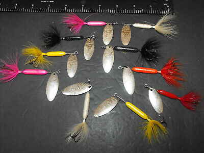 $ CDN10.85 • Buy Vintage Rooster Tail Spinning Lure Lot Of 10 Unused AWESOME Fishing Lures Lot