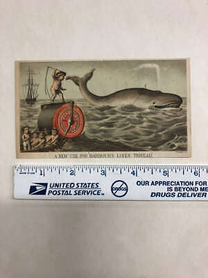 Barbours Irish Flax Threads Sewing Children And Whale Trade Card AA14812 • 36.77£
