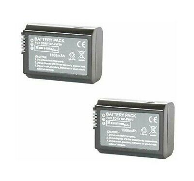 2-Pack 1500mAh NP-FW50 Battery For Sony Alpha A7,a6500,a6300,a6400,a6000 Camera • 22.99£
