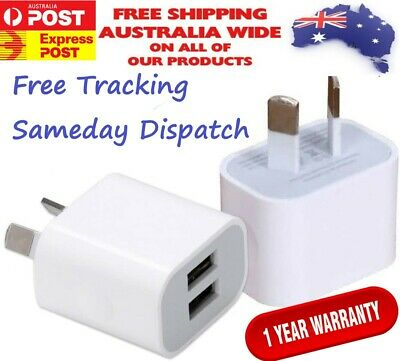 AU8.99 • Buy 2 Port USB Phone Charger Travel 5V 2A Wall Fast Charging Adapter AU Plug