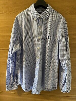 Ralph Lauren Polo Shirt Slim Fit Gingham Mens Xl • 16.50£