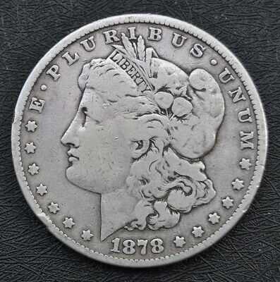 $33.33 • Buy 1878-P $1 MORGAN SILVER DOLLAR Clean Example With 7 Tail Feathers Fine Condition