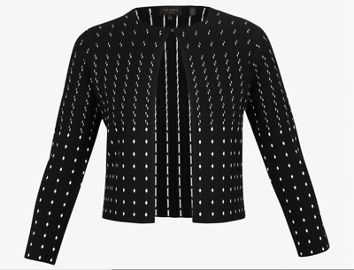 £83.75 • Buy NEW Ted Baker Nalila Lurex Sparkle Cardigan In Black - Size 1 US 4 #S4014