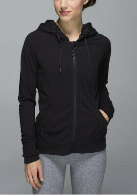 $ CDN75 • Buy LULULEMON ATHLETICA  Black MOVEMENT HOODIE JACKET/ Coat Size 6 SMALL