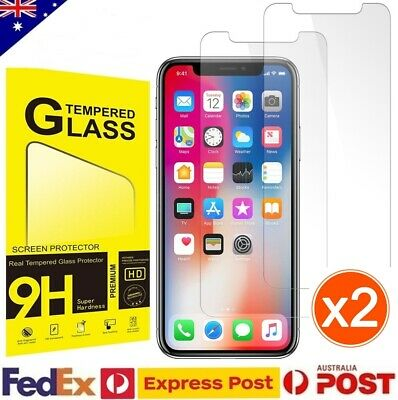 AU4.25 • Buy 2x Tempered Glass Screen Protector For Apple IPhone 11 Pro XS Max X XR 7 8 Plus