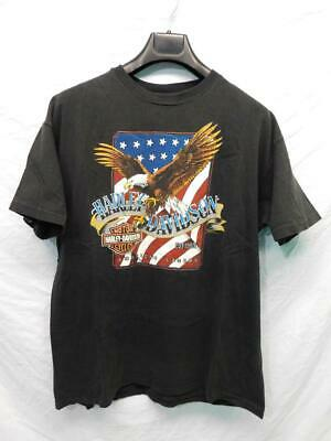 $ CDN31.80 • Buy Vintage Harley Davidson XL Black T Shirt Santa Cruz CA Bald Eagle Motorcycles