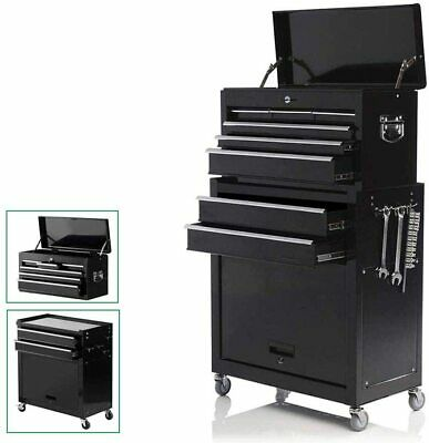 View Details Large 8-Drawer Tool Box Chest Metal Rolling Cabinet Storage Garage Top Detach • 219.99$