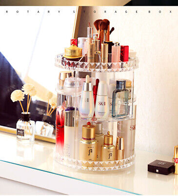 Rotating Makeup Organiser Acrylic 360 Cosmetic Jewelry Perfumes Display Stand  • 10.39£
