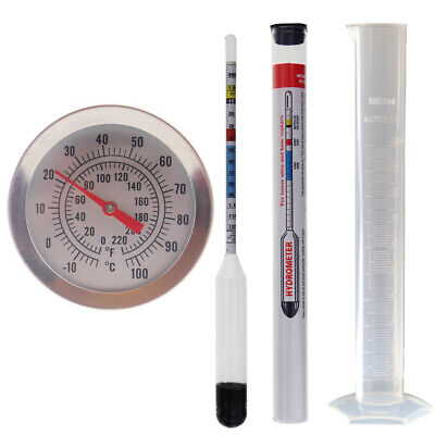 £13.95 • Buy Dial Home Brew Thermometer & Hydrometer & Trial Jar - Homebrew Equipment In-073