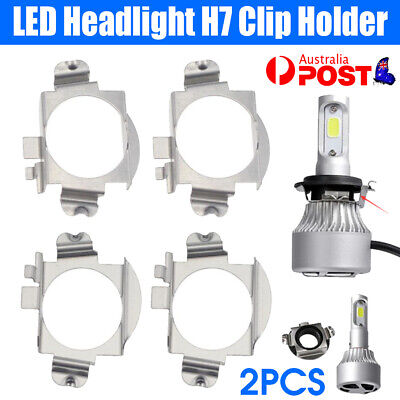 AU8.99 • Buy 2Pcs LED Headlight H7 Clip Adapter Holder Retainer For Mercedes Benz Ford Edge