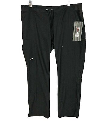 $22.99 • Buy Grey's Anatomy Barco Scrubs Pants Womens Petite Large PL Black Cargo NWT