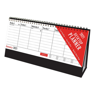 2021 Week To View Easy Flip Desk Top Stand Up Office Home Planner Calendar • 3.99£