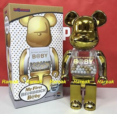 $1134.99 • Buy Medicom Toy Plus Be@rbrick My First Baby 400% Gold & Silver Bearbrick 1pc